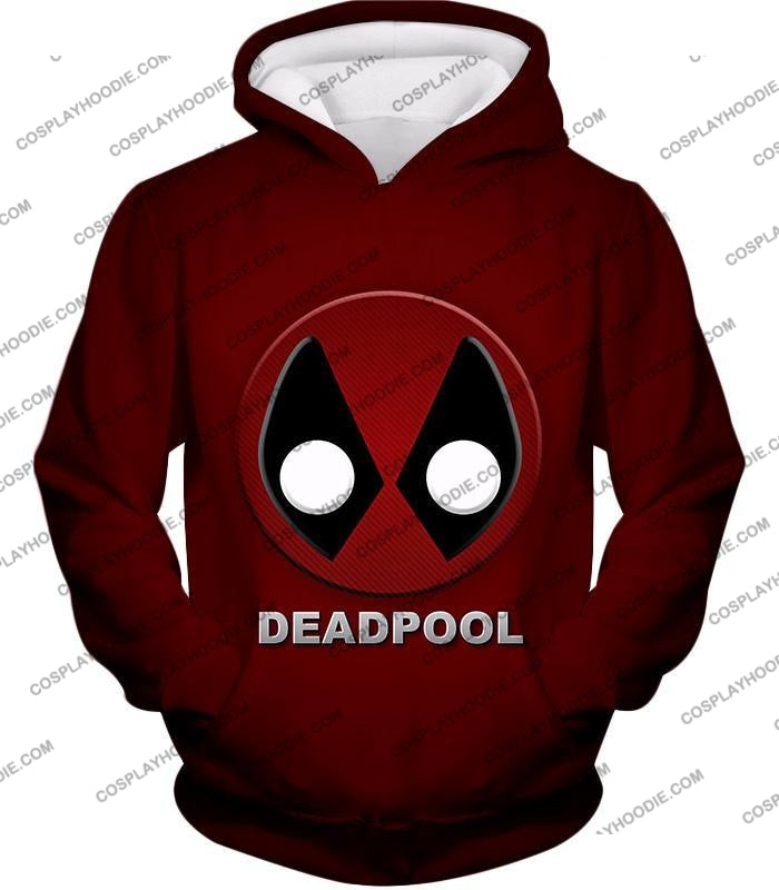 Marvels Deadpool Promo Logo Red T-Shirt Dp045 Hoodie / Us Xxs (Asian Xs)