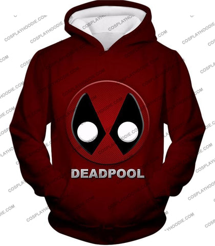 Image of Marvels Deadpool Promo Logo Red T-Shirt Dp045 Hoodie / Us Xxs (Asian Xs)