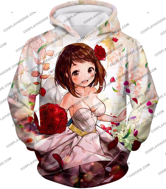 My Hero Academia Beautiful Uraraka Fan Made Dress Cute Anime Promo T-Shirt Mha095 Hoodie / Us Xxs