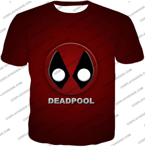 Image of Marvels Deadpool Promo Logo Red T-Shirt Dp045 / Us Xxs (Asian Xs)