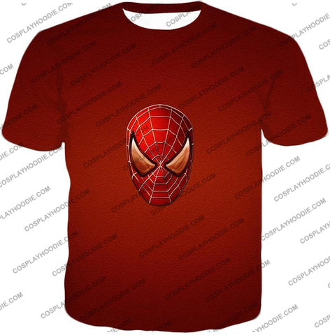 Image of Amazing Spiderman Mask Promo Red T-Shirt Sp045 / Us Xxs (Asian Xs)