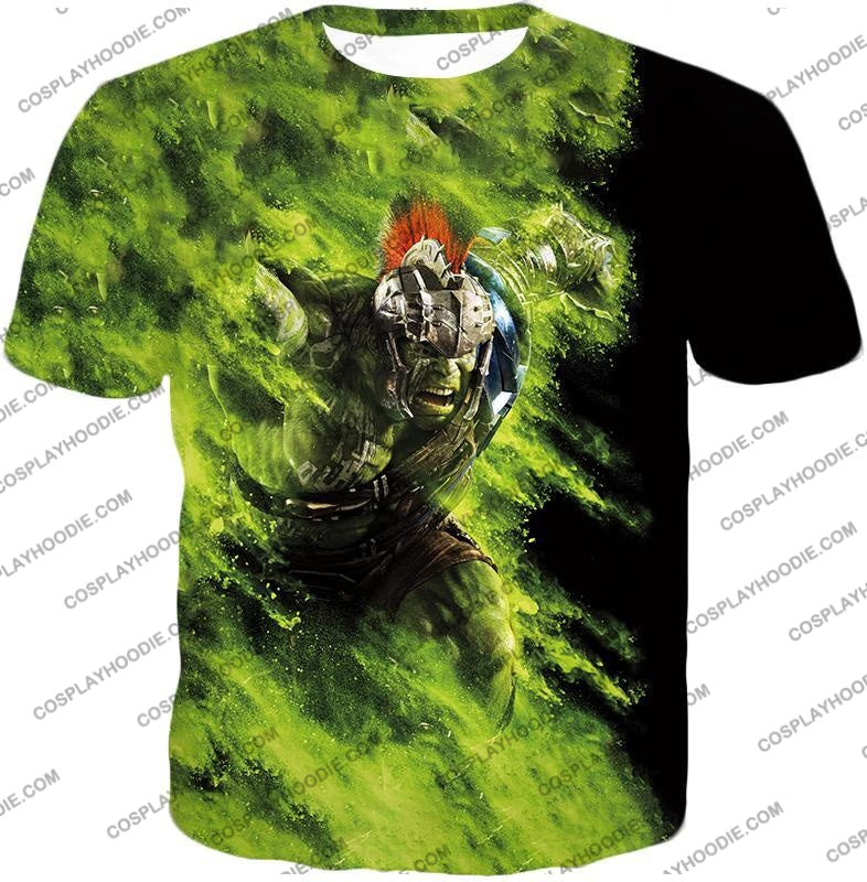 Awesome Marvel Cinematic Warrior Hulk Action T-Shirt Thor045 / Us Xxs (Asian Xs)