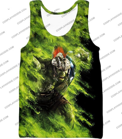 Image of Awesome Marvel Cinematic Warrior Hulk Action T-Shirt Thor045 Tank Top / Us Xxs (Asian Xs)
