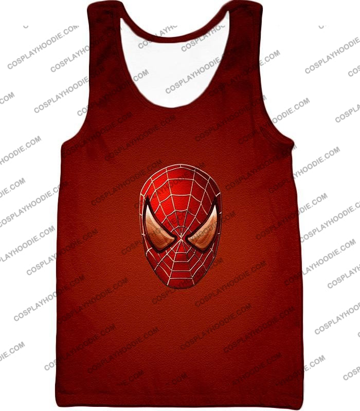 Amazing Spiderman Mask Promo Red T-Shirt Sp045 Tank Top / Us Xxs (Asian Xs)