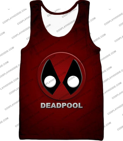 Image of Marvels Deadpool Promo Logo Red T-Shirt Dp045 Tank Top / Us Xxs (Asian Xs)