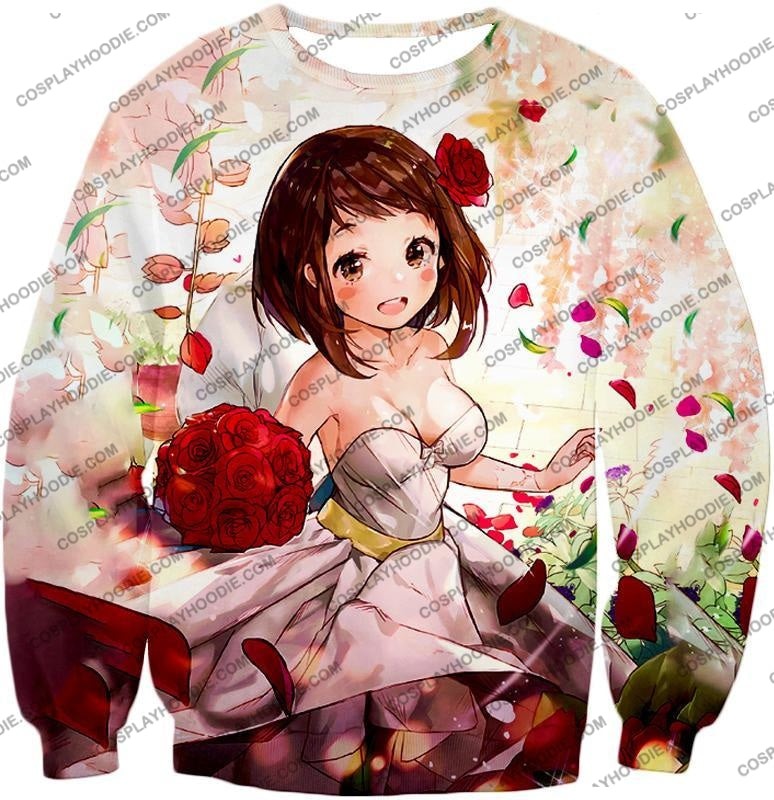 My Hero Academia Beautiful Uraraka Fan Made Dress Cute Anime Promo T-Shirt Mha095 Sweatshirt / Us