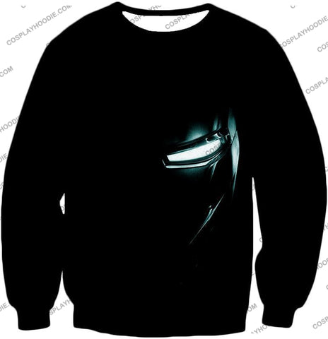 Image of Cool Iron Man Half Printed Black T-Shirt Im045 Sweatshirt / Us Xxs (Asian Xs)
