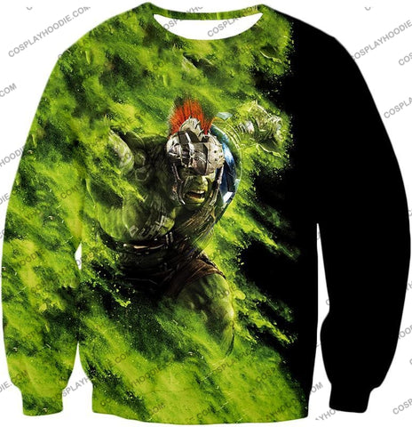 Image of Awesome Marvel Cinematic Warrior Hulk Action T-Shirt Thor045 Sweatshirt / Us Xxs (Asian Xs)