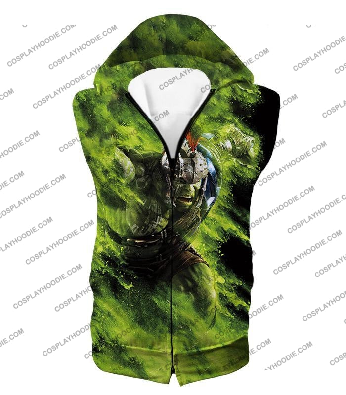 Awesome Marvel Cinematic Warrior Hulk Action T-Shirt Thor045 Hooded Tank Top / Us Xxs (Asian Xs)