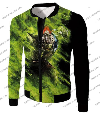Image of Awesome Marvel Cinematic Warrior Hulk Action T-Shirt Thor045 Jacket / Us Xxs (Asian Xs)