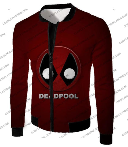 Image of Marvels Deadpool Promo Logo Red T-Shirt Dp045 Jacket / Us Xxs (Asian Xs)