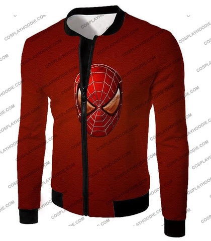 Image of Amazing Spiderman Mask Promo Red T-Shirt Sp045 Jacket / Us Xxs (Asian Xs)