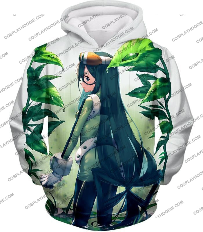 My Hero Academia Super Cool Froppy Tsuyu Asui Awesome Anime White T-Shirt Mha096 Hoodie / Us Xxs
