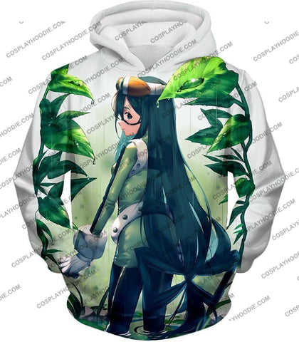Image of My Hero Academia Super Cool Froppy Tsuyu Asui Awesome Anime White T-Shirt Mha096 Hoodie / Us Xxs