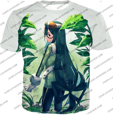Image of My Hero Academia Super Cool Froppy Tsuyu Asui Awesome Anime White T-Shirt Mha096 / Us Xxs (Asian Xs)