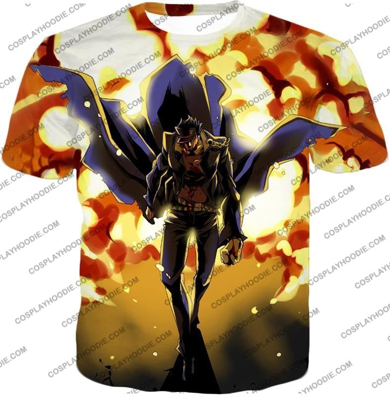 Jojos Stardust Crusaders C Jotaro Kujo Anime Action T-Shirt Jo046 / Us Xxs (Asian Xs)