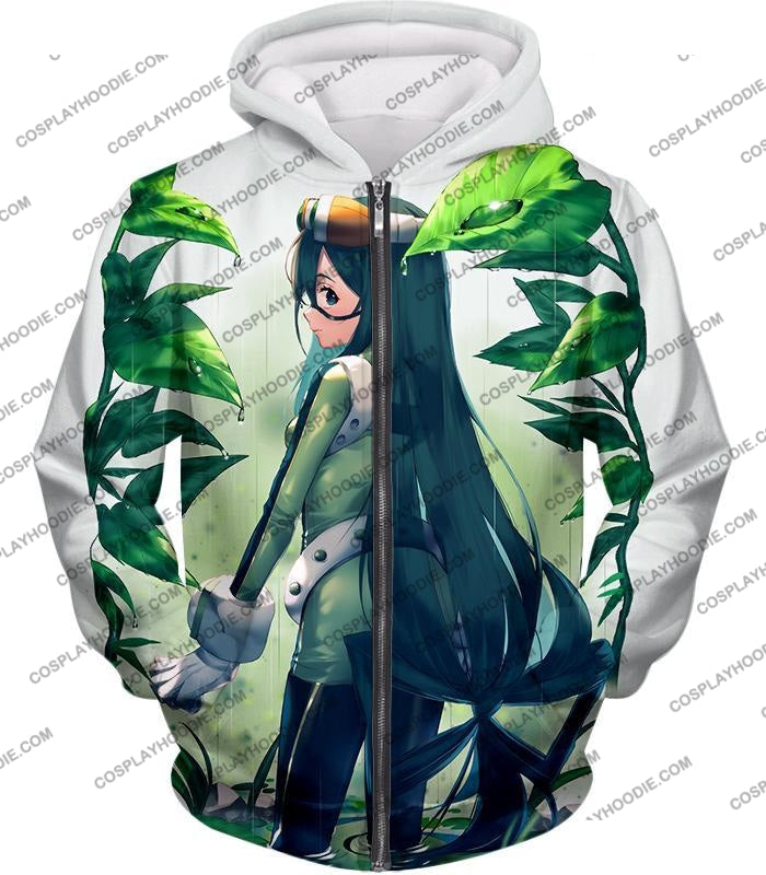 My Hero Academia Super Cool Froppy Tsuyu Asui Awesome Anime White T-Shirt Mha096 Zip Up Hoodie / Us