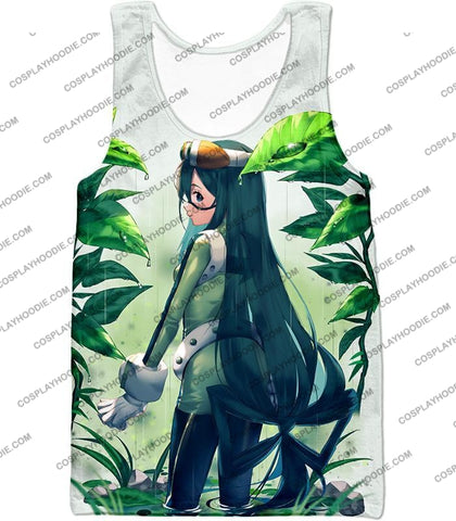 Image of My Hero Academia Super Cool Froppy Tsuyu Asui Awesome Anime White T-Shirt Mha096 Tank Top / Us Xxs
