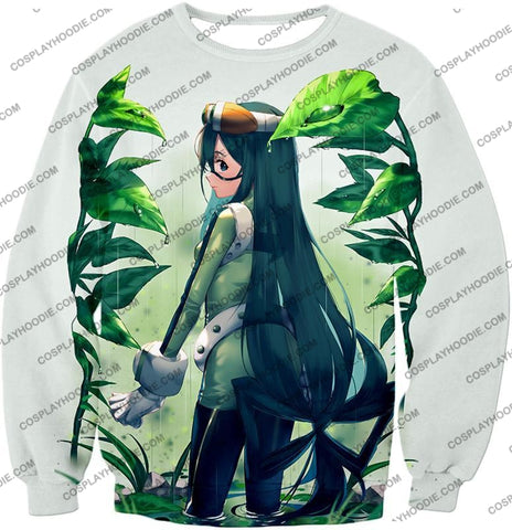 Image of My Hero Academia Super Cool Froppy Tsuyu Asui Awesome Anime White T-Shirt Mha096 Sweatshirt / Us Xxs