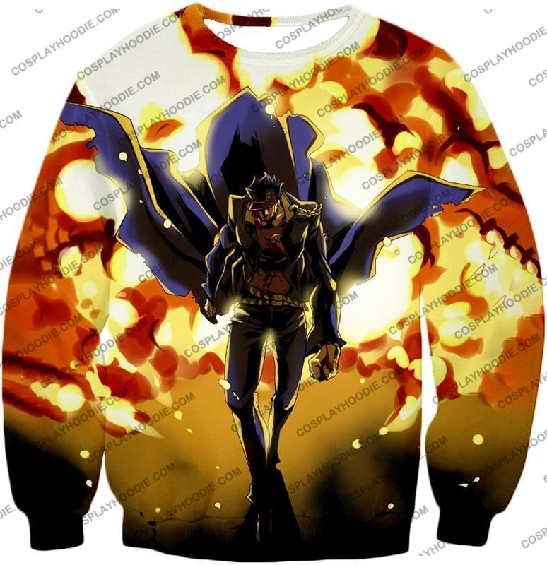 Jojos Stardust Crusaders C Jotaro Kujo Anime Action T-Shirt Jo046 Sweatshirt / Us Xxs (Asian Xs)