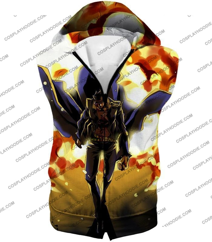 Jojos Stardust Crusaders C Jotaro Kujo Anime Action T-Shirt Jo046 Hooded Tank Top / Us Xxs (Asian