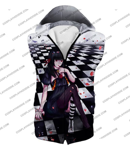 Image of Tokyo Ghoul Cute Juuzou Suzuya Dressed Female Amazing Anime Promo T-Shirt Tg096 Hooded Tank Top / Us