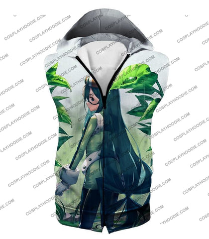Image of My Hero Academia Super Cool Froppy Tsuyu Asui Awesome Anime White T-Shirt Mha096 Hooded Tank Top /