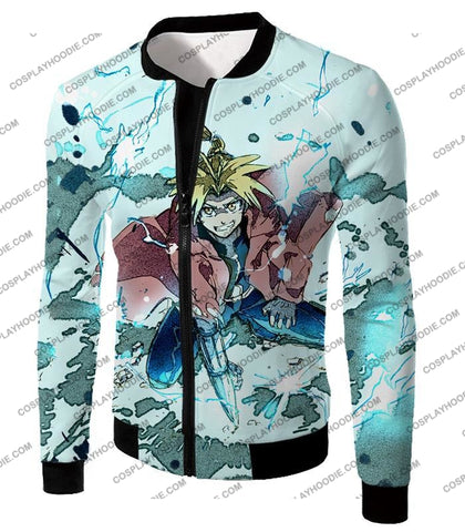 Image of Fullmetal Alchemist Edward Elrich Ultimate Anime Action Cool Graphic T-Shirt Fa046 Jacket / Us Xxs