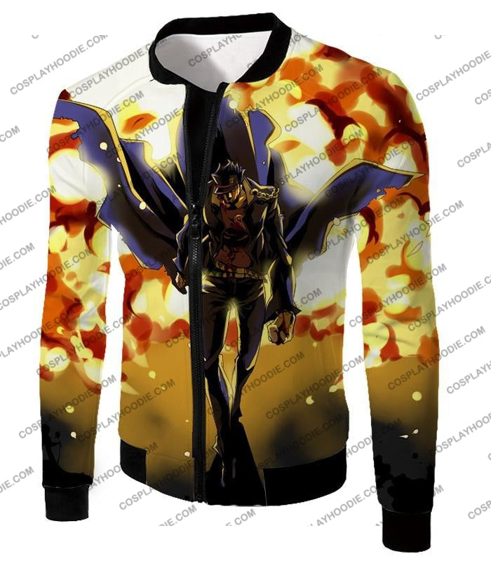 Jojos Stardust Crusaders C Jotaro Kujo Anime Action T-Shirt Jo046 Jacket / Us Xxs (Asian Xs)