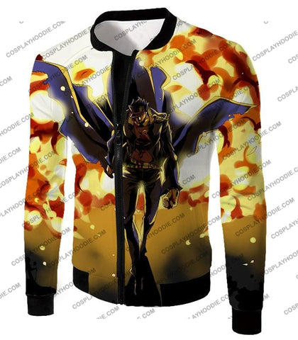 Image of Jojos Stardust Crusaders C Jotaro Kujo Anime Action T-Shirt Jo046 Jacket / Us Xxs (Asian Xs)