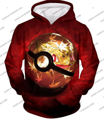 Image of Pokemon Amazing Grass Bulbasaur Pokeball Cool Red T-Shirt Pkm047 Hoodie / Us Xxs (Asian Xs)