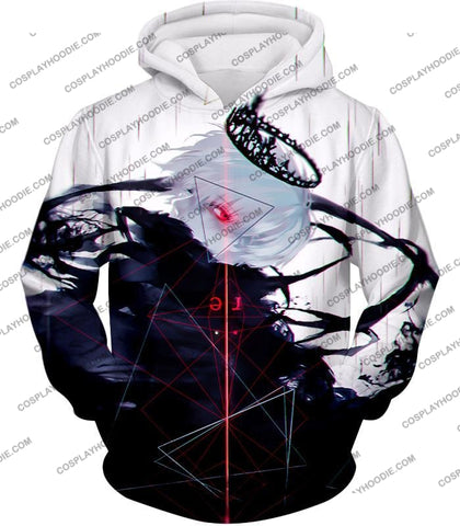 Image of Tokyo Ghoul Awesome One Eyed King Kaneki Cool Anime Action Promo T-Shirt Tg097 Hoodie / Us Xxs