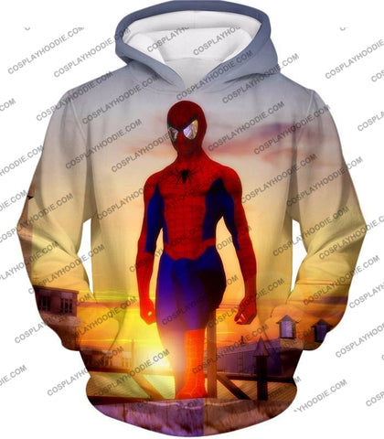 Image of Superhero Spiderman From Dusk To Dawn Cool T-Shirt Sp047 Hoodie / Us Xxs (Asian Xs)