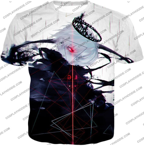 Image of Tokyo Ghoul Awesome One Eyed King Kaneki Cool Anime Action Promo T-Shirt Tg097 / Us Xxs (Asian Xs)
