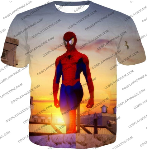Image of Superhero Spiderman From Dusk To Dawn Cool T-Shirt Sp047 / Us Xxs (Asian Xs)
