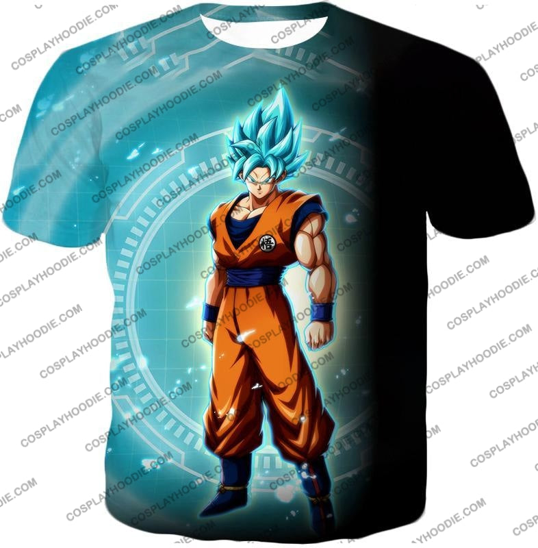Dragon Ball Super Ultimate Goku Saiyan Blue Promo Anime T-Shirt Dbs047 / Us Xxs (Asian Xs)