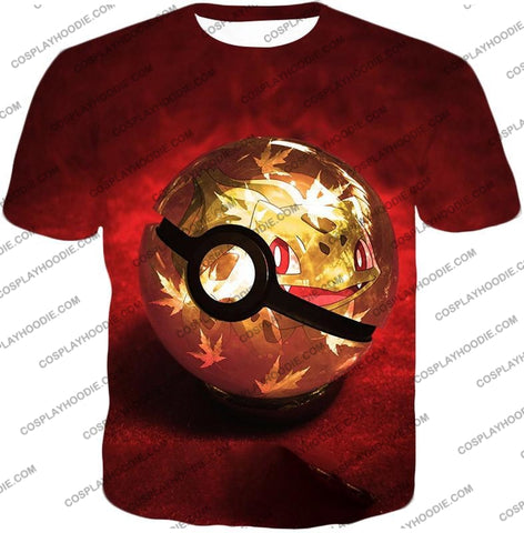 Image of Pokemon Amazing Grass Bulbasaur Pokeball Cool Red T-Shirt Pkm047 / Us Xxs (Asian Xs)