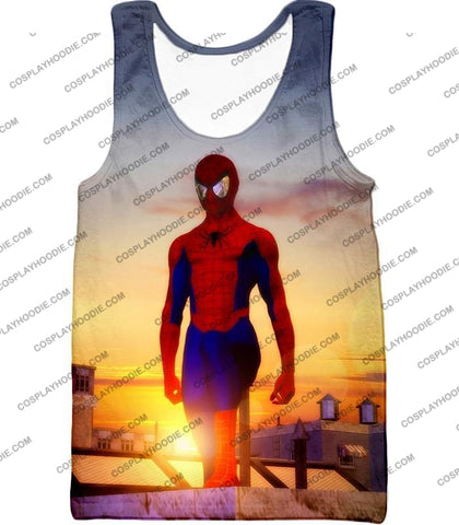 Image of Superhero Spiderman From Dusk To Dawn Cool T-Shirt Sp047 Tank Top / Us Xxs (Asian Xs)