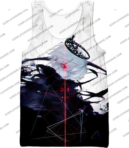 Image of Tokyo Ghoul Awesome One Eyed King Kaneki Cool Anime Action Promo T-Shirt Tg097 Tank Top / Us Xxs