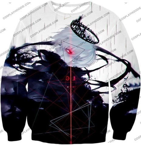Image of Tokyo Ghoul Awesome One Eyed King Kaneki Cool Anime Action Promo T-Shirt Tg097 Sweatshirt / Us Xxs