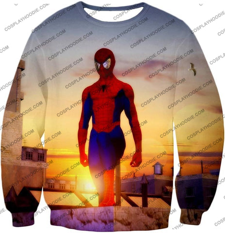 Image of Superhero Spiderman From Dusk To Dawn Cool T-Shirt Sp047 Sweatshirt / Us Xxs (Asian Xs)
