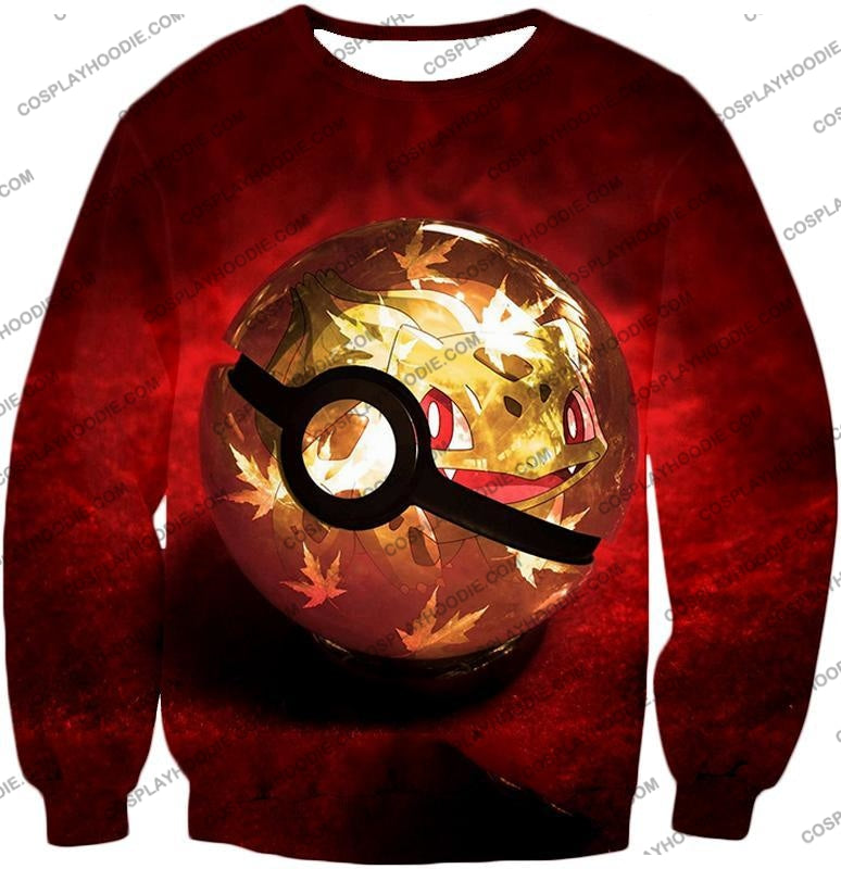 Pokemon Amazing Grass Bulbasaur Pokeball Cool Red T-Shirt Pkm047 Sweatshirt / Us Xxs (Asian Xs)