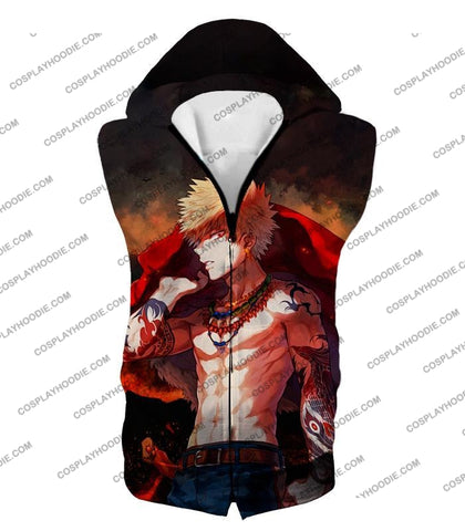 Image of My Hero Academia Handsome Fan Made Bakugo Katsuki Cool Anime Promo T-Shirt Mha097 Hooded Tank Top /