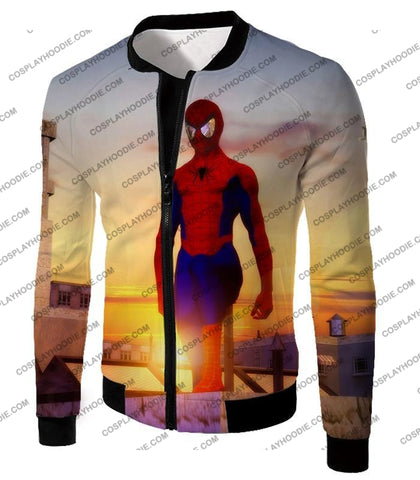 Image of Superhero Spiderman From Dusk To Dawn Cool T-Shirt Sp047 Jacket / Us Xxs (Asian Xs)