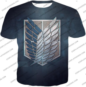 Attack On Titan Powerful Eren Yeager T-Shirt Aot048 / Us Xxs (Asian Xs)