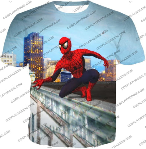 Image of Amazing Spiderman Gameplay Action T-Shirt Sp048 / Us Xxs (Asian Xs)