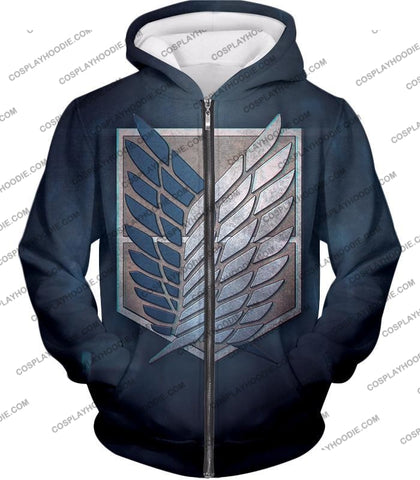 Attack On Titan Powerful Eren Yeager T-Shirt Aot048 Zip Up Hoodie / Us Xxs (Asian Xs)
