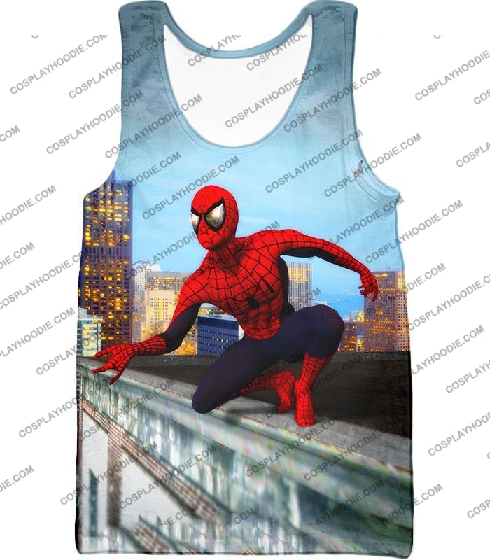 Amazing Spiderman Gameplay Action T-Shirt Sp048 Tank Top / Us Xxs (Asian Xs)