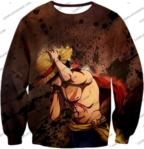 Image of One Piece Best Pirate Captain Monkey D Luffy Cool Anime T-Shirt Op048 Sweatshirt / Us Xxs (Asian Xs)