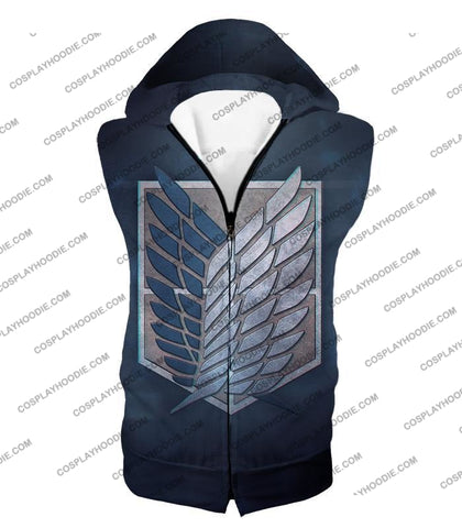 Attack On Titan Powerful Eren Yeager T-Shirt Aot048 Hooded Tank Top / Us Xxs (Asian Xs)